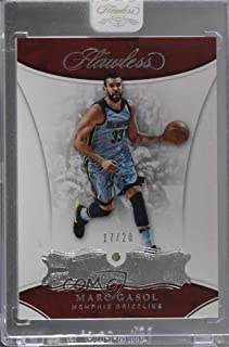 Marc Gasol Ungraded Manufacturer Uncirculated #17/20 (Basketball Card) 2017-18 Panini Flawless - [Base] #66