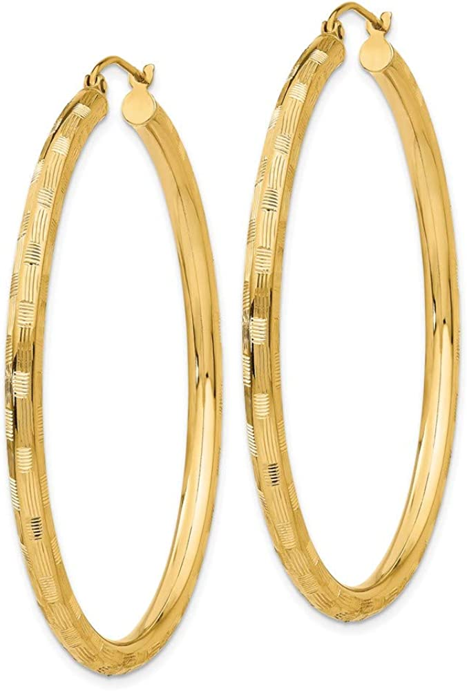 14k Yellow Gold Hoop Earrings Ear Hoops Set Round Fine Jewelry For Women Gifts For Her