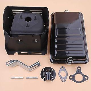 Tiempo Beixi Filtro de Escape Silenciador Deflector de Aire Soporte de Vivienda Kit for Honda GX390 GX340 13HP 11HP 188F 190F generador Parte
