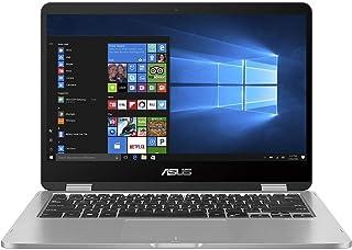 Asus VivoBook Flip 14 TP401MA-EC123TS Convertible Notebook (Light Gray) - Intel Celeron N4000 2.6 GHz, 4 GB RAM, 64GB eMMC, Integrated Intel UHD Graphics 620, 14 inches LED , Windows 10S, Eng-Arb-KB