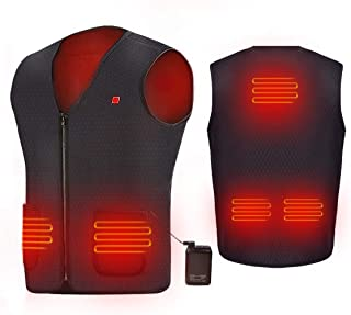 AIPER USB Heated Vest Electric Body Warmer Heating Pad...