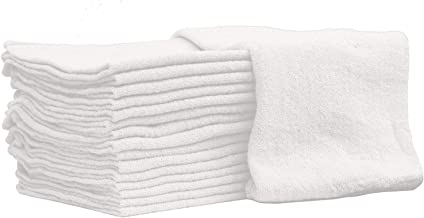 Nabob Wipers Auto-Mechanic Shop Towels, Shop Rags (100 Pack) 100% Cotton Commercial Grade Perfect for Your Garage, Auto Body Shop & Bar Mop (White 100 Pack)