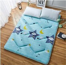 Japanese Futon Mattress,Tatami Floor Mat Sleeping Bed, Foldable Futon Mattress, Portable Folding Single/Double Bed Mattres...