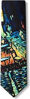 Men's Silk Cafe Terrace Flower Vincent Van Gogh Art Necktie Tie Neckwear