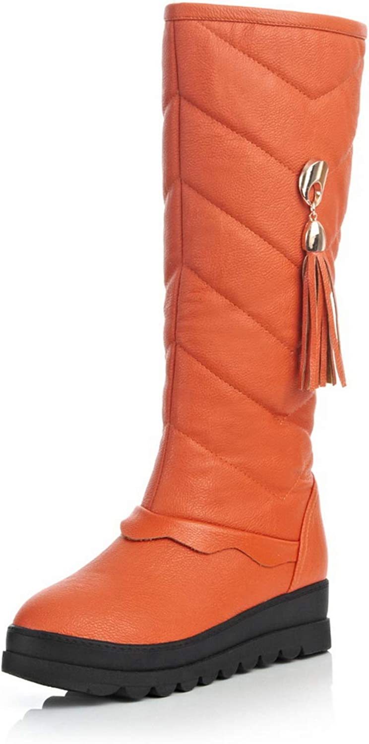 1TO9 Womens Bucket-Style Solid Dress Urethane Boots MNS02928