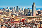 Barcelona Spanien Skyline Stadt XXL Wandbild Kunstdruck