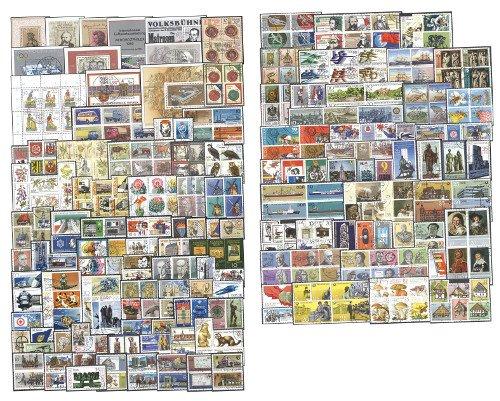 Goldhahn DDR 300 komplette gestempelte Ausgaben aus 1980-1990 Briefmarken für Sammler
