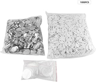 1000pcs 32mm DIY Blank Pin Badge Button Cover Clip Pin Parts Consumables for Pro Button Maker Machine (1.25 inch(32mm))