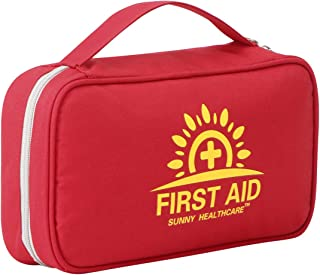 2-in-1 First Aid Kit (228 Pieces) + Bonus 52-Piece Mini First Aid Kit: Compact, Lightweight for Emergencies at Home, Outdoors, Car, Camping, Workplace, Hiking & Survival