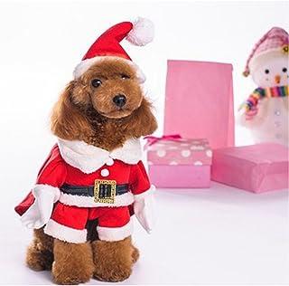 NACOCO Pet Christmas Costumes Dog Suit Cap Santa Suit Dog Hoodies (X-Large)