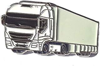 Principalmente metallo smaltato HGV camion camion distintivo 28mm (blu, verde, rosso, bianco, giallo)