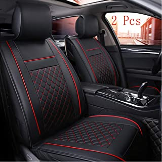 Han sui song Car Seat Cover Interior Accessories Leather Front Seats 2 Pcs for C-hr RAV4 Tacoma 4runner Tundra Xc90 XC40 Atlas Tiguan (Black)