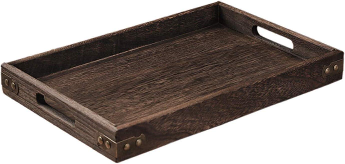 Retro Wooden Pallet Rectangular Max 88% OFF Storage Gifts Trays Dinn Hotel Dessert