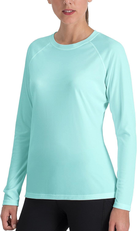 NAVISKIN Women's Sun Predection UPF 50+ UV Outdoor Long Sleeve TShirt