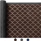 Color&Geometry Outdoor Door Mat 24X47 Rubber Mats, Low-Profile Doormat, Indoor Outdoor, Waterproof,Mat for Floor, Patio, Entry, Back Front Door,Brown