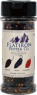 Flatiron Pepper Co, Dark and Smoky Premium Smoked Chile Flakes. Chipotle - Ancho - Habanero