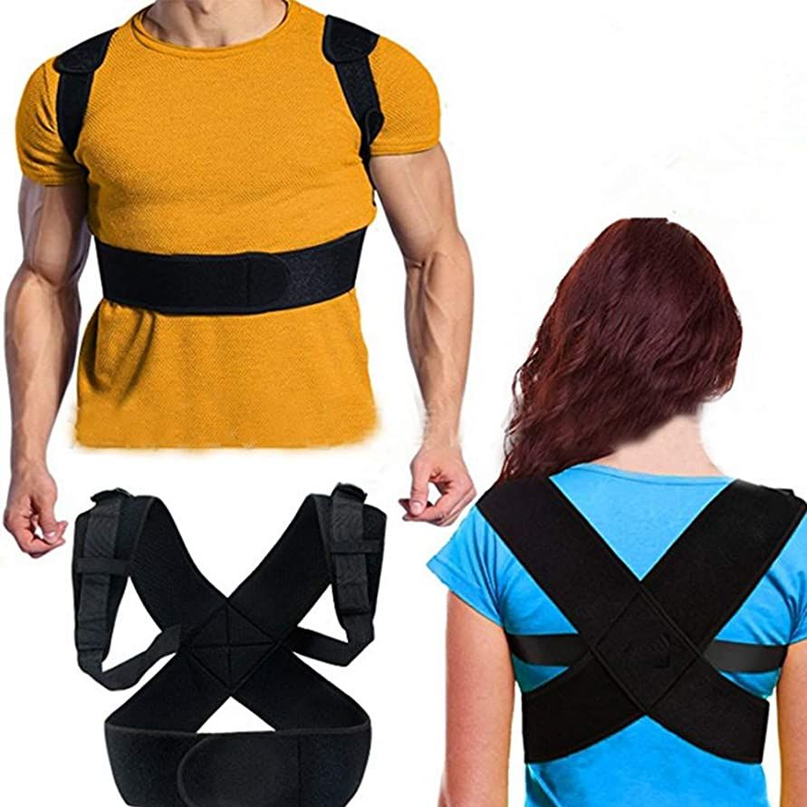 定規累積主導権猫背 姿勢矯正ベルト 背筋矯正サポーター背筋 補正 ベルト 肩こり 解消 通気 脱着簡単 姿勢改善 歪み予防 男女兼用