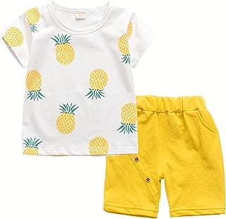 Toddler Baby Boy Girl Summer Clothes Sets Casual Shirts & Shorts Outfits