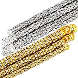 800 Pieces Round Rondelle Spacer Beads Crystal Rhinestone Loose Bead Rondelle Charm Beads 6 mm 8 mm 10 mm for Necklaces Bracelets Jewelry Making (Gold, Silver)