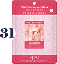 Pack of 31, The Elixir Beauty MJ Korean Cosmetic Full Face Collagen Placenta Essence Mask Pack Sheet for Vitality, Clarity, Mosturizing, Relaxing