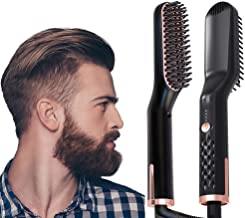 AU PLUG Hair & Beard Straightener Brush for Women and Men, Fast Shipment from AU Warehouse, Fast Heating and Anti-Scald, 1 Count