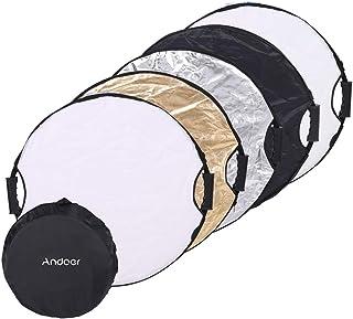 Andoer 110cm 5in1 Round Collapasible Multi-Disc Portable Circular Photo Photography Studio Video Light Reflector