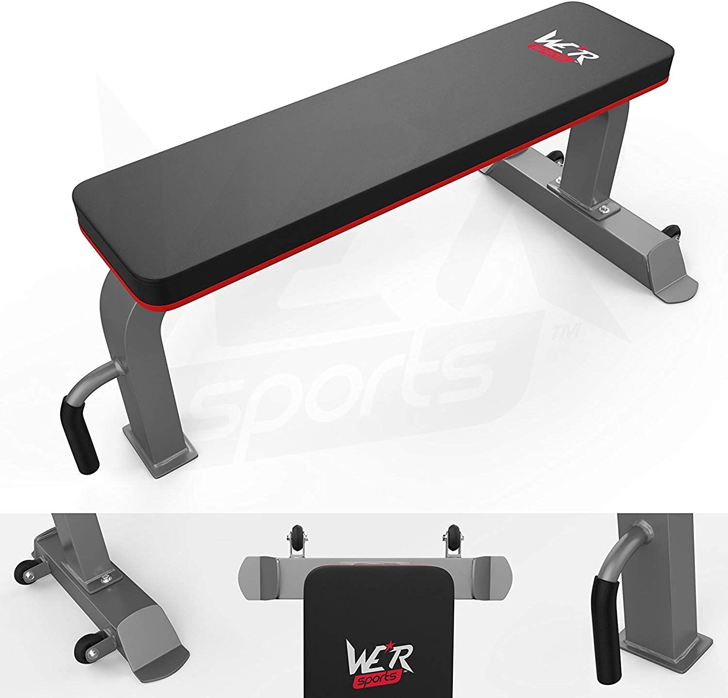 We R Sports Commercial Flat Weight Bench Chest Press Dumbbell Gym Workout