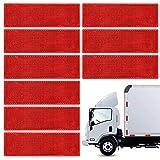 Bakiauli Reflectores Camiones 10 Piezas Reflector Autoadhesivo Rectangular,para Remolque, Camiones
