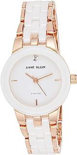 Women's Diamond-Accented Ceramic Bracelet Watch