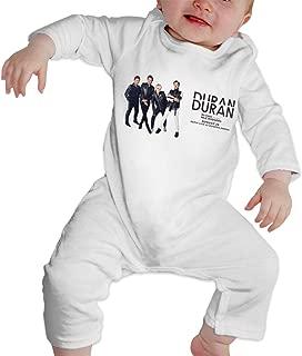 KayiKama Duran Duran Baby Boy Girl Long Sleeve Jumpsuit Jumpsuit Button White