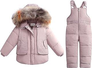 Sponsored Ad - Srkrando Baby Boy Snowsuit Infant Winter Clothes Toddler Jumpsuit 2T Jacket Coat for Girl