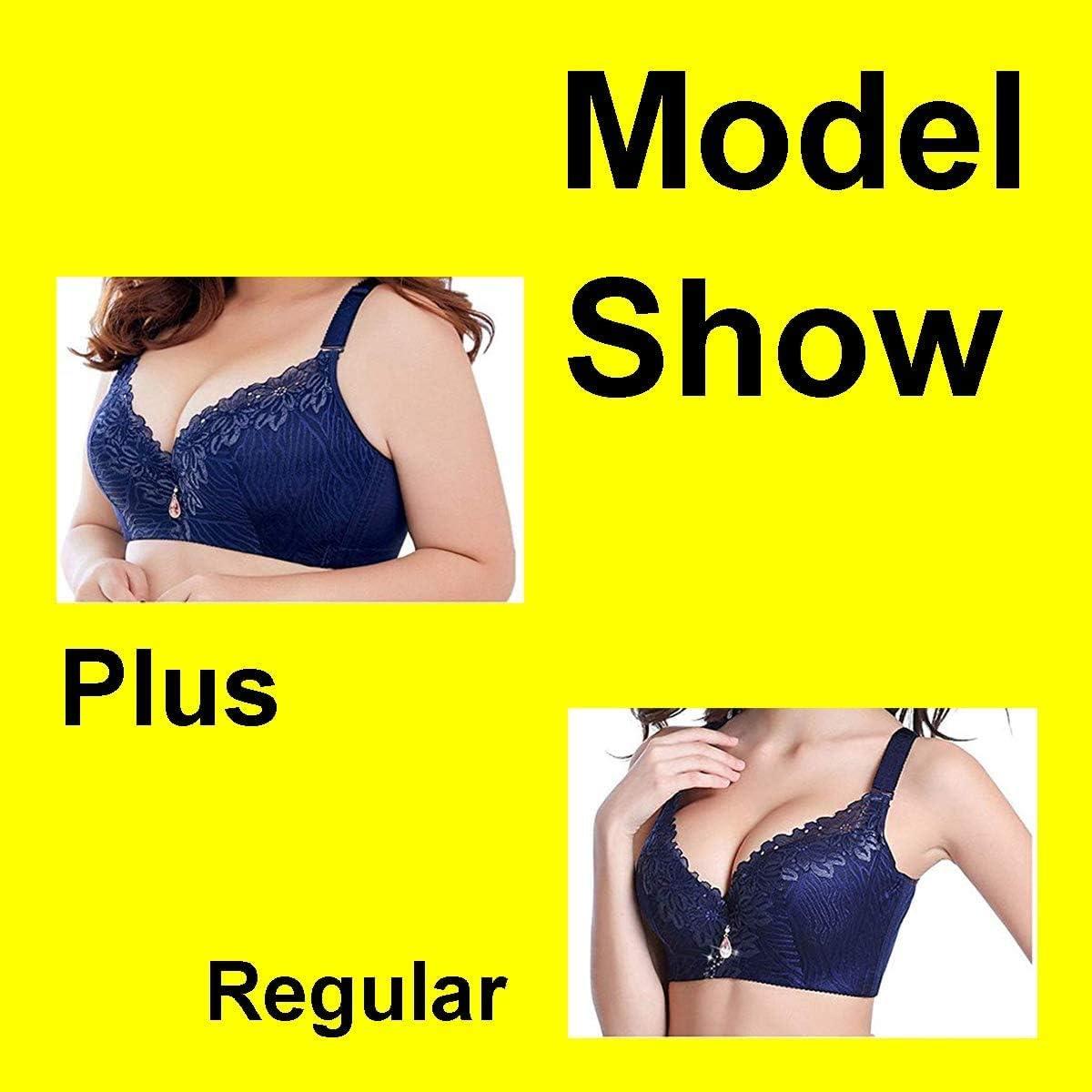 Women's Comfortable Fit Bra Support Push Up Plus Size Underwire Bra