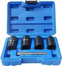 Kstyhome 5 szt./zestaw Twist Socket Kit 4 uszkodzone nakrętki kół i wyjęcia zamka 17/19/21/22 mm (niebieski)