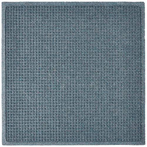 Hudson Exchange 4300 Waterhog Fashion Floor Mat, 35' x 35', 3/8' Thick, Bluestone