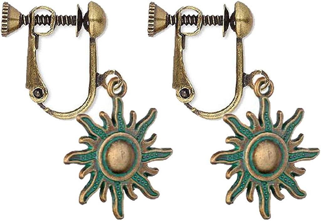 Lovely Sun Clip On Earrings for Women Vintage you are my sunshine Teardrop Drop Dangle