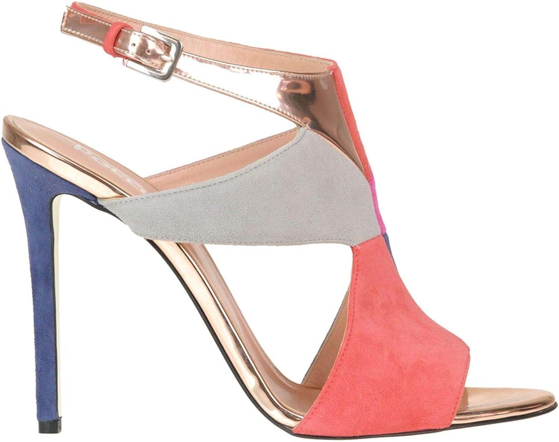 POLLINI POLLINI POLLINI Kvinnliga MCGLCAT0005218E MultiFärg mocka Sandaler  köp varumärke