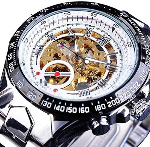 CMXUHUI De moda y elegante, aspecto exquisito, un g mecánico de diseño de bisel de oro reloj para hombre reloj automático de los hombres reloj esqueleto reloj 21cm
