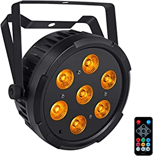 Stage Light, LaluceNatz 28W 7LED Par Lights with RGBA Wash Light by DMX IR Remote Control Sound Activated for DJ Wedding Church Party Stage Lighting
