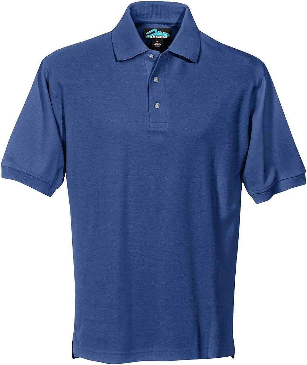 Tri-Mountain Men's 100% Cotton Signature Pique Polo Shirt (17 Colors, XS-6XLT)