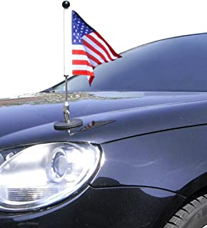 Magnetic Car Flag Pole Diplomat-1 USA