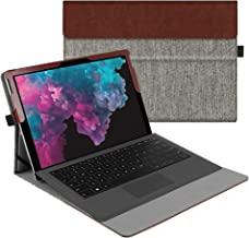 Fintie Case for New Microsoft Surface Pro 7 / Pro 6 / Pro 5 / Pro 4 / Pro 3 12.3 Inch Tablet - Multiple Angle Viewing Portfolio Business Cover, Compatible with Type Cover Keyboard (Denim Grey)