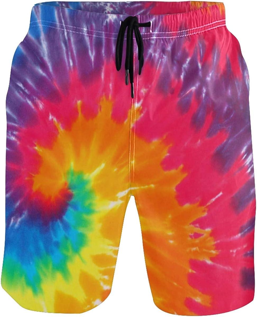 New color CaTaKu Rainbow Tie Dye Swim Trunks Shorts Dry Tulsa Mall Suits Quick Beach