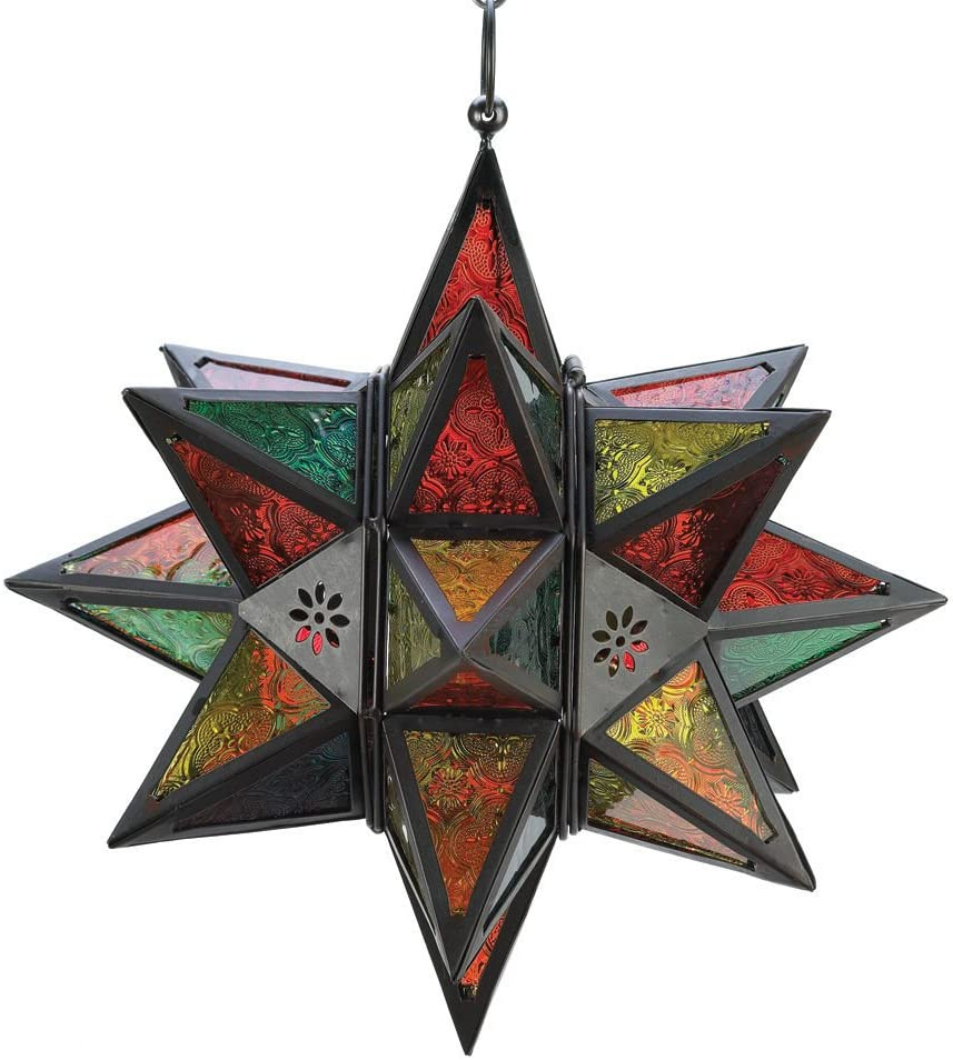 Globe House Products Star Candle Large Hanging Max 80% OFF Lantern G New mail order Colored