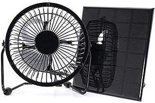 Ventilador de panel solar de 3 W 6 V mini ventilador de panel solar de refrigeración de 4 pulgadas para camping caravana yate invernadero casa perro pollo casa ventilador