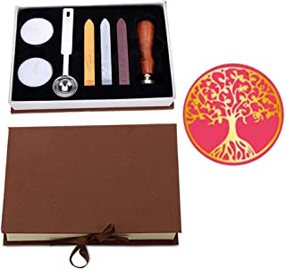 VIYOUNG Wax Seal Stamp Kit, Classic Vintage Seal Wax Stamp Set, Creative Mysterious Stamp Maker Kit (Tree of life)