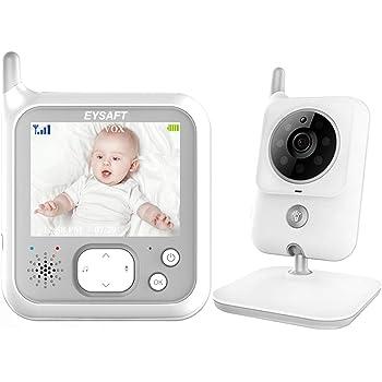 Babyphone 3,2 Zoll Smart Baby Monitor mit TFT LCD Bildschirm Nachtsichtkamera und Temperatur/überwachung Verpackung MEHRWEG