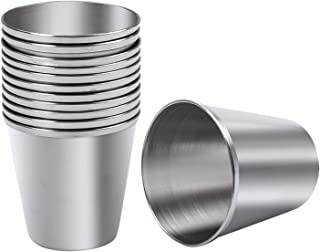 Ruisita 12 Pieces Stainless Steel Shot Cups Stainless Steel Shot Glass Drinking Tumbler (1 Ounce/30 ml)