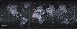 Aillvend mouse pad grande para jogos impresso com bordas costuradas no mapa mundial velocidade superfície lisa como seda t...