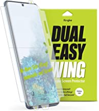 Ringke Dual Easy Wing Full Coverage (Pack of 2) Designed for Galaxy S20 Screen Protector Dual Easy Film Case Friendly Protective Film Screen Guard For Samsung Galaxy S20 5G