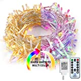 Fairy Lights Multicolor Outdoor String - Lights 80Ft 200 LED Christmas tree Lights,Room Lights Color Changing White Christmas Light,Fairy Lights with Remote&Timer for Easter Pastel,Party,Wedding